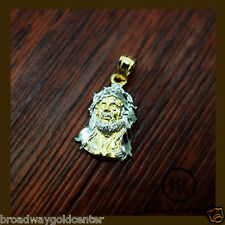 Face of Jesus Solid 14k Yellow & White Gold Pendant SALE! ONLY $59.50!!!!!!!!!!!