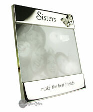 Sisters Make Best Friends Silver Plated Photo Frame 74033