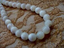 "(v456-20) 20"" WHITE Mother of Pearl Beads pearls 8 mm beaded Necklace JEWELRY"