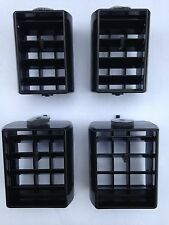 1978-88 Chevrolet Monte Carlo El Camino Malibu Dash Center Vent Black Set of 4