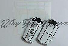 White Matte Key Wrap Cover Skin BMW Remote 1 3 4 5 6 E Series Z4 X1 X3 X5 X6 M