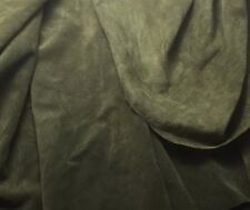 SUEDE Olive Green Lambskin Leather Hide Piece #32