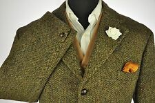"Vtg Dunn & Co Harris Tweed Country Tailored Hacking Jacket 44"" #720 SUPERB"