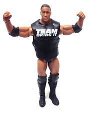 "WWF WWE Wrestling DWAYNE JOHNSON THE ROCK  with vest Mattel 6"" figure VERY RARE"