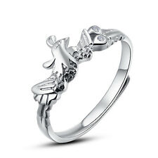 Sterling Silver Phoenix Adjustable Open Ring Women's Ring Nickel Free