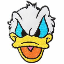 Duck Angry Face Character Cartoon Chicken Donald Kid Children Iron on Patch 0984