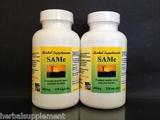 SAM-e, SAMe 400mg, depression, bone health, Made in USA ~ 240 (2x120) Capsules