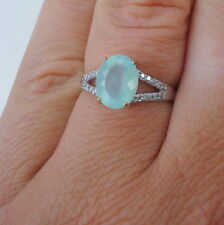 1.56ct Paraiba Opal  & Diamond Gold Ring