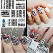 1 Sheet Nail Art Water Decals Tribal Geo Pattern Transfer Stickers Decoration