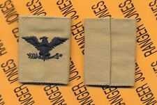 US ARMY Colonel COL Desert DCU slip on rank patch