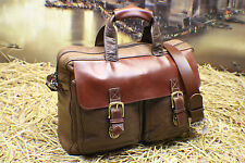 L.L.BEAN USA Executive Vintage Leather Business Travel Briefcase Bag Mens