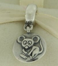 Authentic Pandora 790884 Chinese Zodiac Year of the Rat Silver Bead Charm