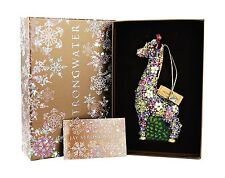 JAY STRONGWATER MILLE FIORI GIRAFFE GLASS CHRISTMAS ORNAMENT SWAROVSKI NEW BOX