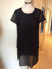 Betty Barclay Top Tunic Size 18 BNWT Black Sheer Layered RRP £100 NOW £45