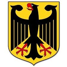 "Germany German Coat of Arms garage Wall Shop Man Cave Decal sticker  4"" x 5"""