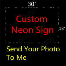 "Custom NEON LIGHT SIGN Glass Tube Display BEER BAR CLUB Bulbs Lamp Signs 30""x18"""