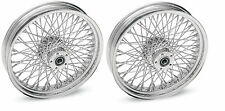 "DNA CHROME 80 SPOKE WHEELS HARLEY 16x3.5"" FRONT & REAR TOURING OR SOFTAIL"