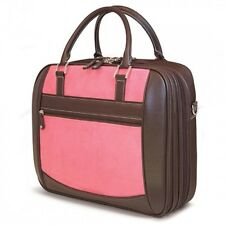 ScanFast Element Briefcase 16/17 Mac - Pink Suede Checkpoint Friendly Laptop Bag