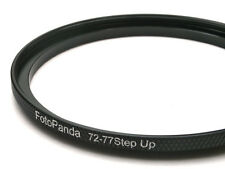FotoPanda 72mm to 77mm 72 77 Step Up Filter Ring Adapter High Quality Aluminium