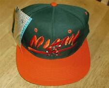 "Miami Hurricanes hat SNAPBACK VINTAGE style 90's RaRe DS w/ tags ""THE U"""