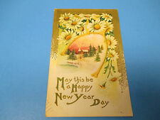 Happy New Years Day 1909 Postmarked Vintage Color PC31
