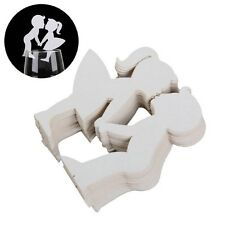Popular 50Pcs/Lot Wedding Cup card Cut Wine Glass Name Place Cup Escort Cards