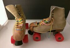 Vintage Riedell Roller Skates Skating Shoes, Chicago Wheels, Chicago 7A,  SZ 8