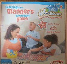 Playskool Noodleboro LEARNING ABOUT MANNERS PICNIC BASKET GAME-CD,Book Preschool