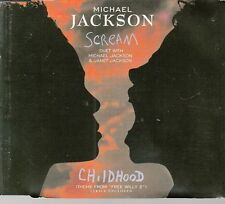 "CD MAXI 5 T BOITIER CRISTAL  MICHAËL JACKSON   ""SCREAM"""