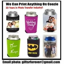 CUSTOM PERSONALIZED PHOTO CAN HOLDER KOOZIE COZY COOZIE COOLIE