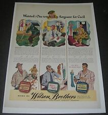 Print Ad 1942 CLOTHING Wilson Brothers Fashion ART Wanted Top Sergeant for Cecil