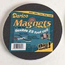 "25 Feet Flexible Craft Magnet Adhesive Back Magnetic Strip 1/2"" wide"