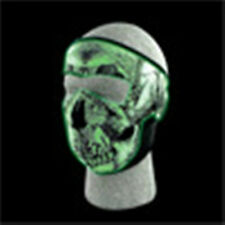 Glow in the Dark Skull Full Neoprene Face Mask Biker Snowmobile Costume Party