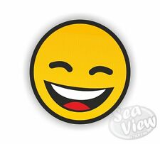 Smiley Smile Face Yellow Happy Car Van Sticker Stickers Decal Funny Sticker