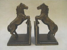 Buchstützen PAIR OF CAST IRON HORSE BOOK-ENDS H: 15,5 cm.