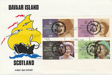 GB Locals - Davaar (2337) Queen Mother imperf set of 4 on First Day Cover
