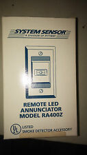 SYSTEM SENSOR RA400Z REMOTE LED ANNUNCIATOR LOT OF 11 PIECES SEE PICS #A67