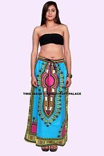 Dashiki African Skirt Cotton Mexican Hippie Tribal Ethic Boho Turquoise Indian