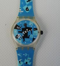 "Reloj reloj de pulsera ""swatch running time"" 1996 -- top estado!!!"