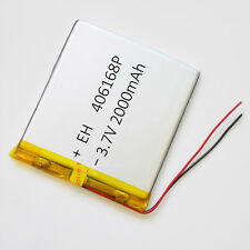 3.7V 2000mAh LiPo Polymer Rechargeable Battery For Power Bank DVD PAD GPS 406168