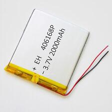 2000mAh LiPo Polymer Battery 3.7V For Power Bank mobile phone DVD camera 406168