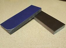 BLACK WHITE AND BLUE PAPER MICARTA KNIFE HANDLE SCALE BLANKS 1/2 (.5) INCH THICK