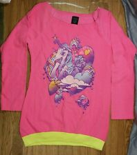 VERY COOL Cyberdog London Shirt Small Neon Pink Rave EDM Long Sleeve Pullover