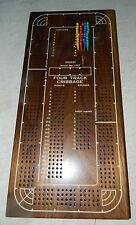 Drueke Model No 1962 Cribbage Board, Large Four Track