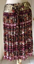 NWT DIANE VON FURSTENBERG 100% Silk Pleated Sequence Skirt Size 10 Retail $425