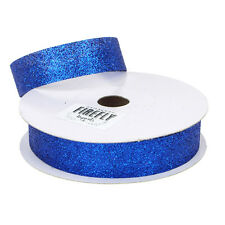 Christmas Glitter Ribbon Gift Wrapping, 7/8-Inch, 2-1/2-Inch