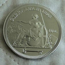 GIBRALTAR GEORGE III 1808 NICKEL SILVER PROOF PATTERN 10 REALES CROWN - coa