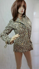 Pauls Boutique animal print jacket blazer with crystals,golden detailing, size M