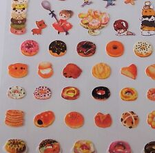 Donut Doughnut Sticker Sheet Kawaii Stickers Stationery Planner Scrapbook Cake