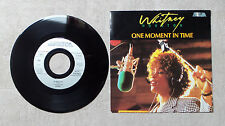 "VINYLE 45T 7"" SP MUSIQUE / WHITNEY HOUSTON ""ONE MOMENT IN TIME"" 1988 ARISTA"